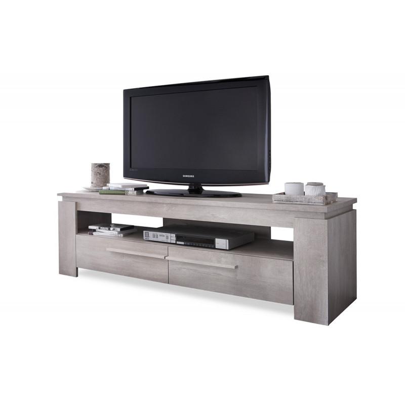 banc tv 140cm segur couleur chene champagne le r ve chez vous. Black Bedroom Furniture Sets. Home Design Ideas