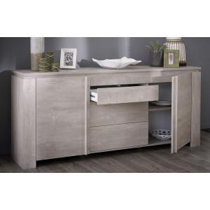 enfilade 2 portes avec 3 tiroirs segur couleur chene champagne le r ve chez vous. Black Bedroom Furniture Sets. Home Design Ideas