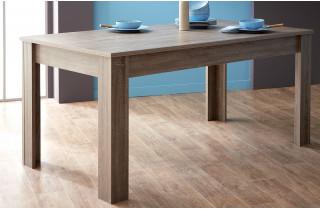 Table 170x90 STEEN couleur chêne foncé