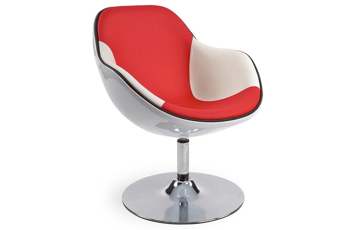 Siège Design KIRK Blanc/Rouge