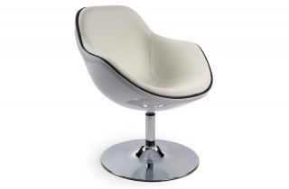 Siège Design Blanc/Blanc
