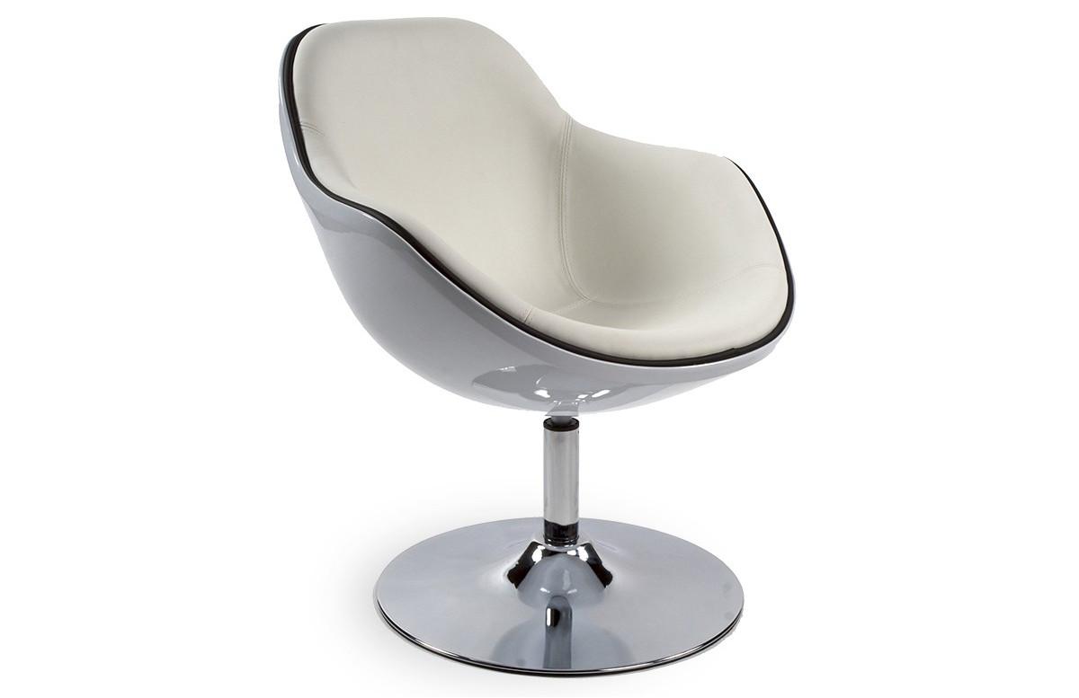 siège Design KIRK blanc/blanc