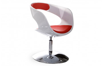 Siège Design Blanc/Rouge