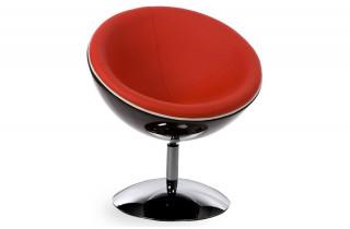 Fauteuil Design Boule BOWL Noir/Rouge