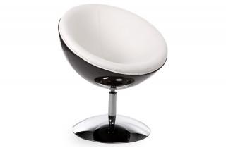 Fauteuil Design Boule BOWL Noir/Blanc