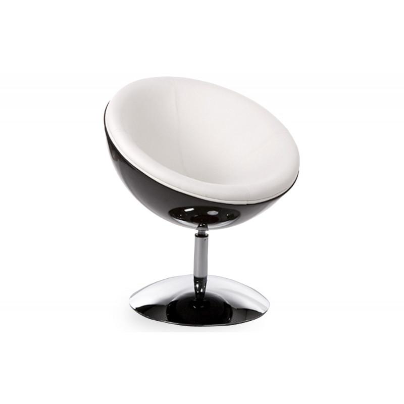 Fauteuil design boule noir blanc le r ve chez vous - Fauteuil design boule ...