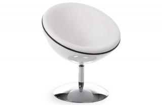 Fauteuil Design Boule BOWL Blanc/Blanc