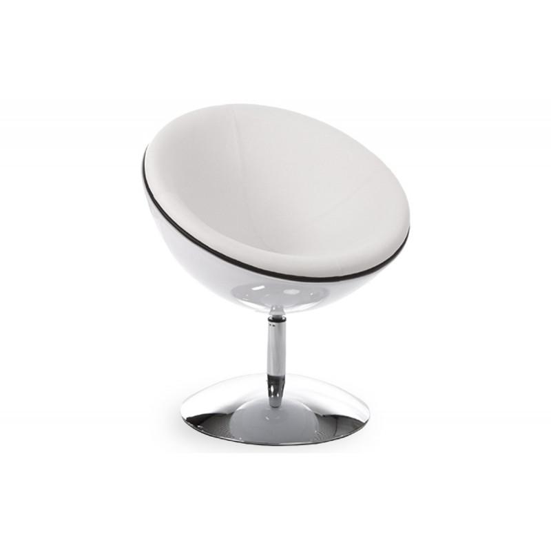 fauteuil design boule blanc blanc le r ve chez vous. Black Bedroom Furniture Sets. Home Design Ideas