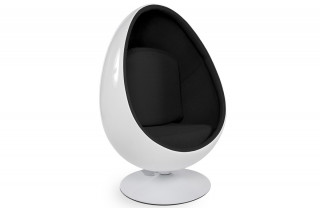 Fauteuil design oeuf NEGG blanc/noir