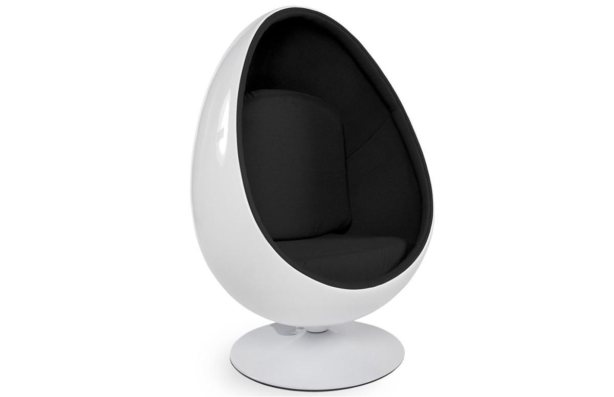 Fauteuil design oeuf negg blanc noir