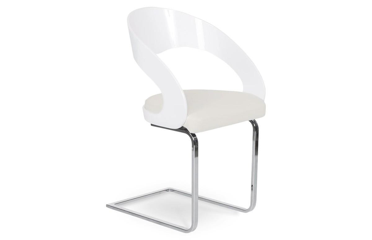 Chaise Design Blanc/Blanc
