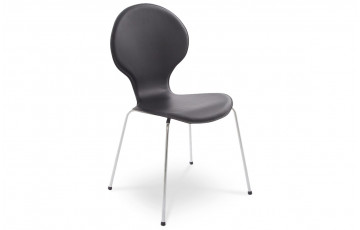 Chaise Design Similicuir SALSA Noir