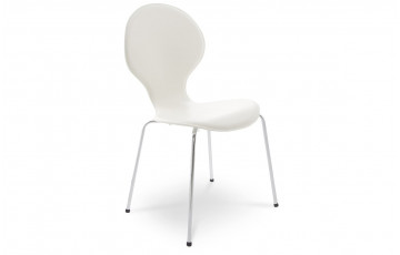 Chaise Design Similicuir SALSA Creme