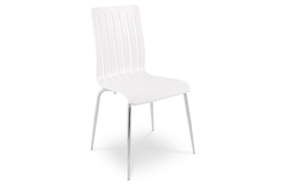 Chaise moderne WIND en bois couleur blanc