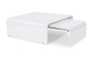 Table basse design SLIDE blanc