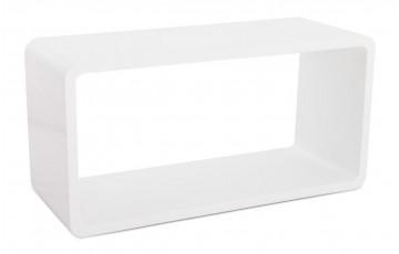 cube de rangement UNO en bois laqué blanc brillant