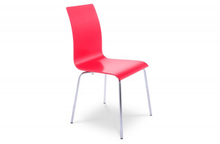 Chaise design NATURAL rouge