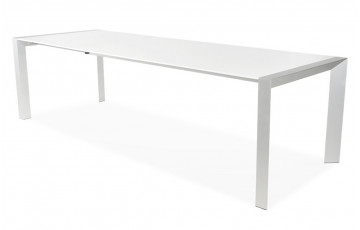 Table à manger TITAN design extensible blanche