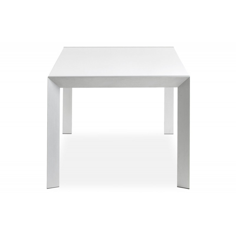 Table manger design blanche le r ve chez vous for Table a manger blanche