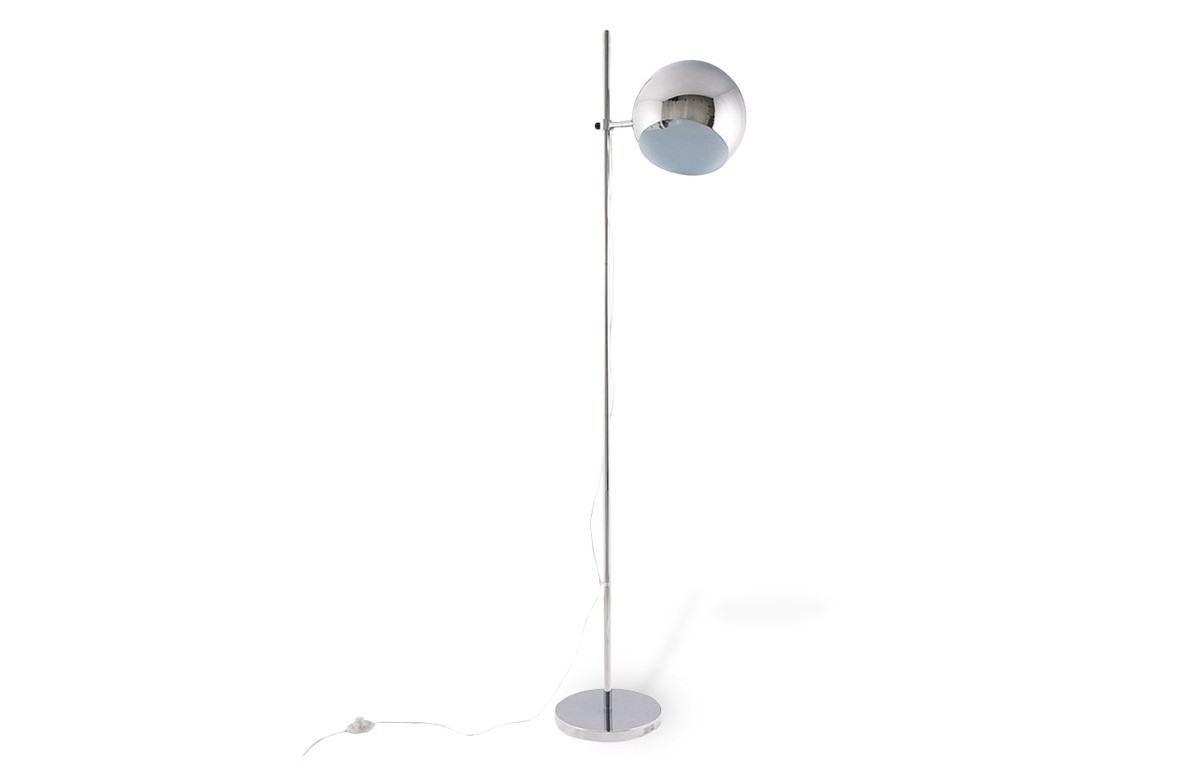 Lampadaire design boule Haut ONE chrome