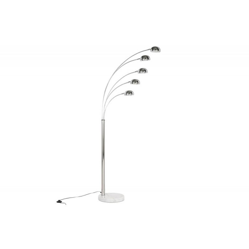 lampadaire design five chrome