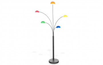 Lampadaire design FIVE multicolor