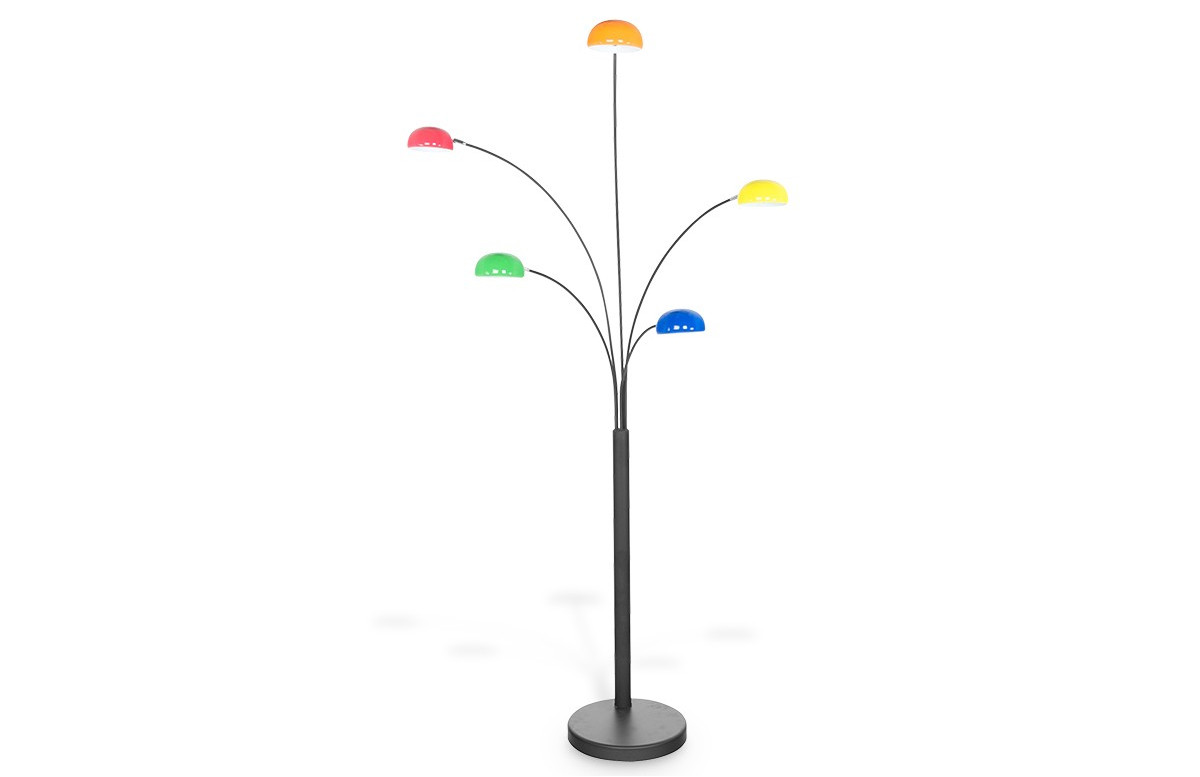 Lampadaire design FIVE multicolor