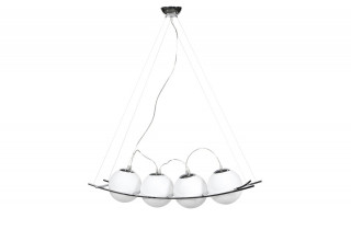 Suspension design PLOP blanc glass