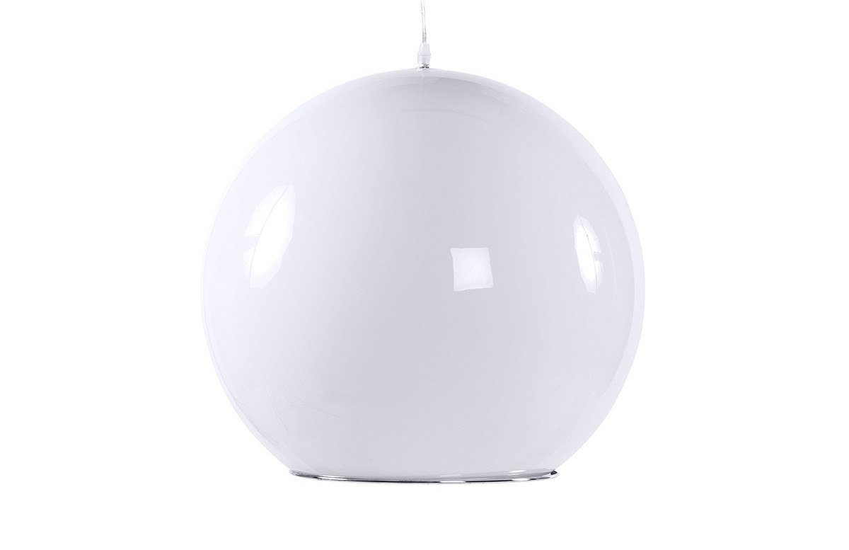 Lampe suspension design GLOBE blanc