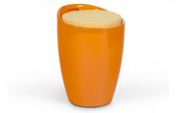 Tabouret design BUBBLE orange