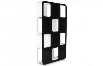 Etagère DOMINO noir/blanc design en bois laqué