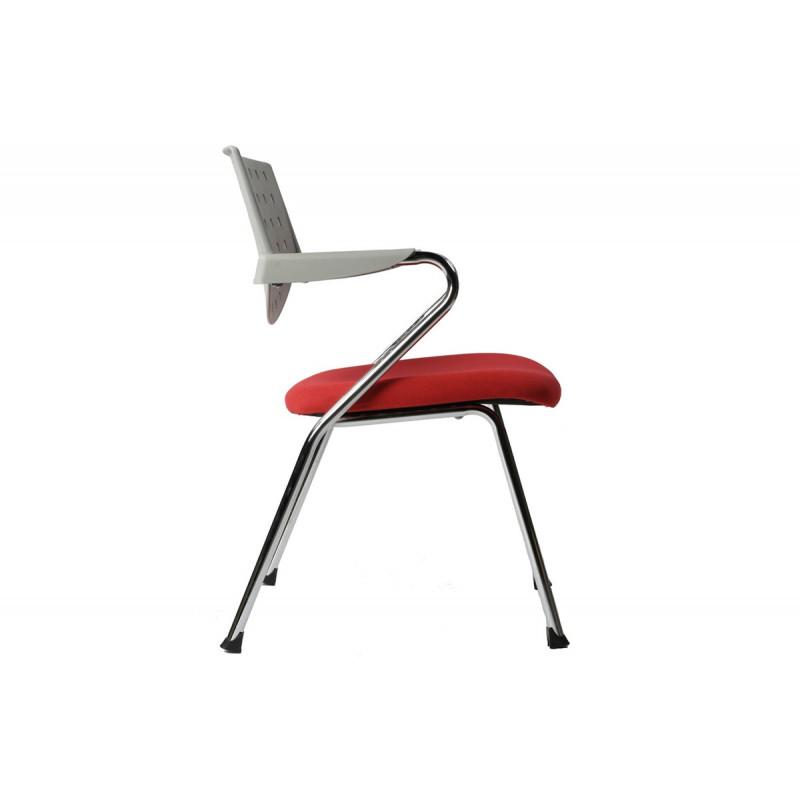 chaise de bureau design gris rouge le r ve chez vous. Black Bedroom Furniture Sets. Home Design Ideas