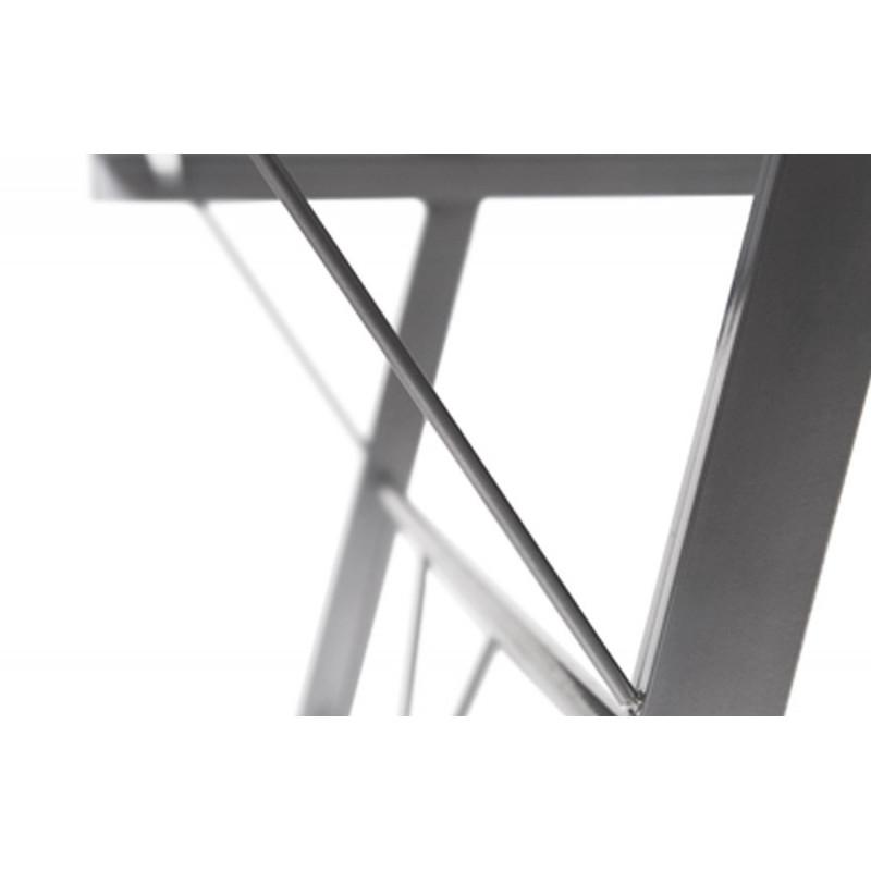 Bureau d 39 angle design verre noir le r ve chez vous - Bureau angle verre noir ...