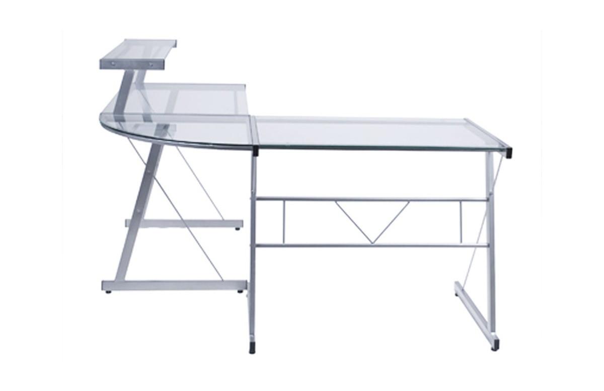 bureau angle design bureau duangle rock k avec pitement design finition chrome u mobel linea. Black Bedroom Furniture Sets. Home Design Ideas
