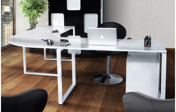 Bureau d'angle design WIND blanc