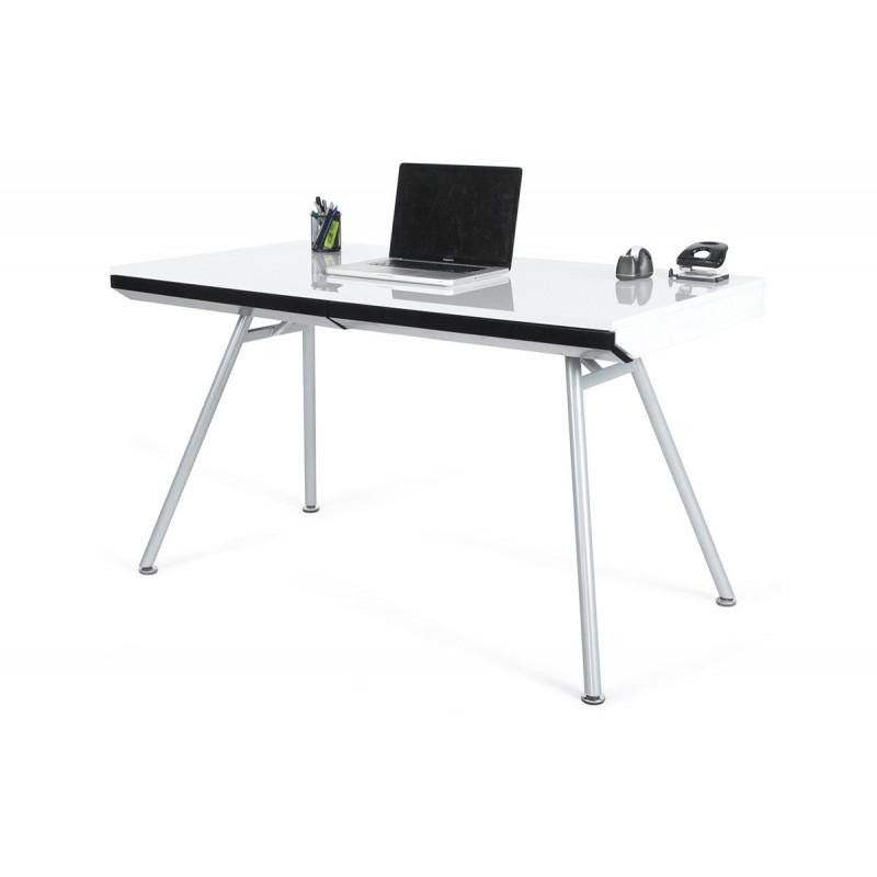 Meuble de bureau design blanc le r ve chez vous for Meuble bureau blanc