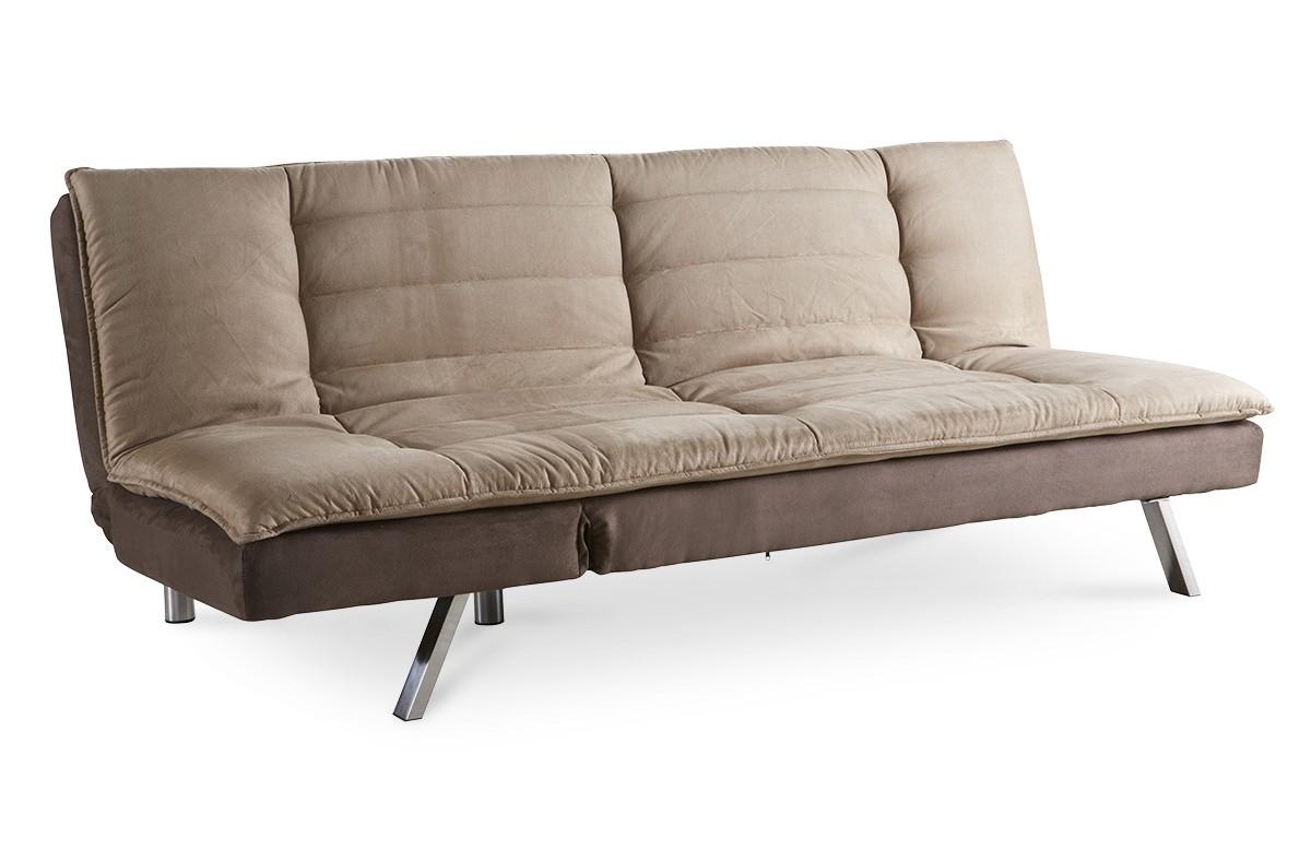Canapé sofa clic clac couleur taupe - beige