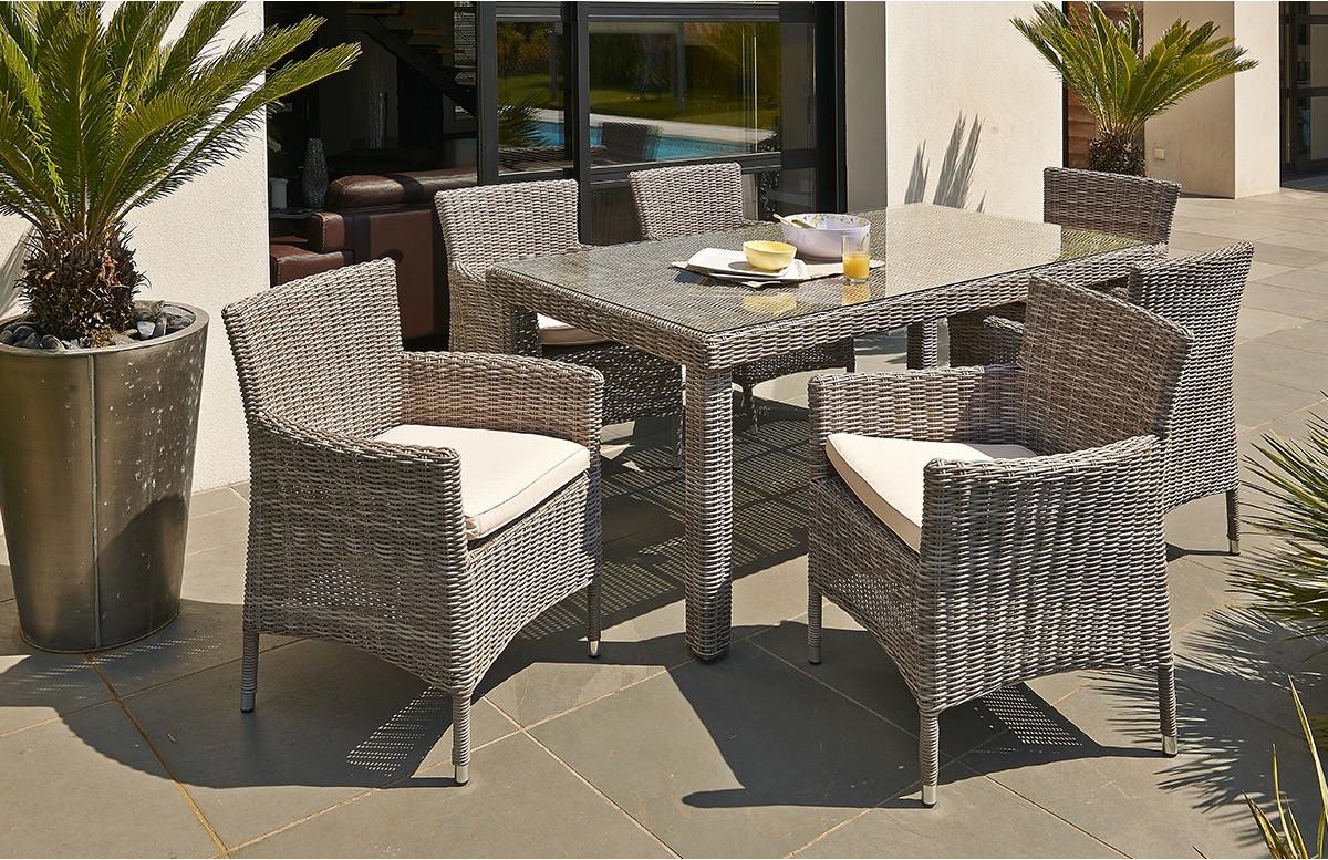 Beautiful salon de jardin resine tressee ronde athenes - Salon de jardin en resine tressee avec table ronde ...