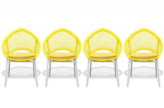 Lot de 4 chaises CALI jaune