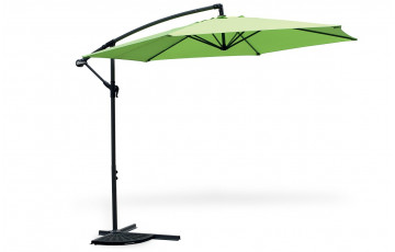 Parasol uni polyesther PATIO vert anis