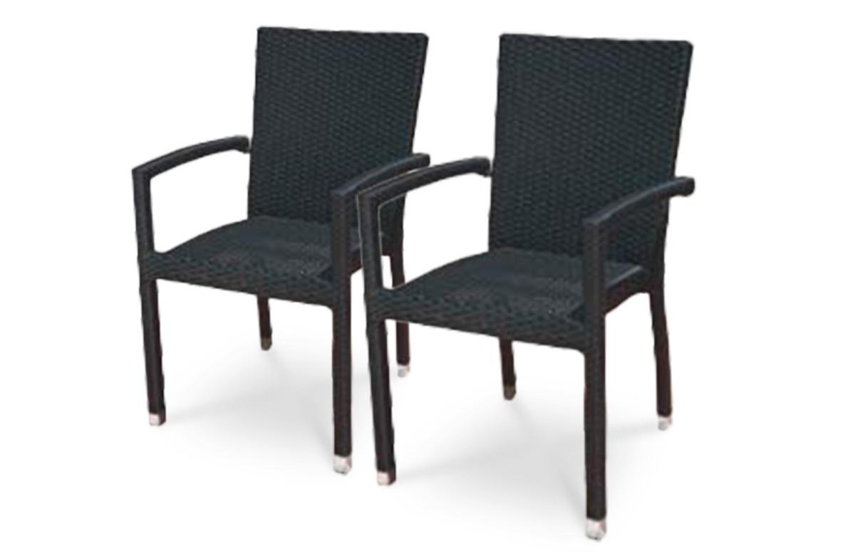 Lot de 2 fauteuils noirs