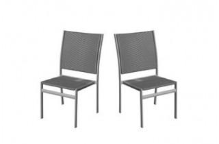 Lot de 2 chaises grises