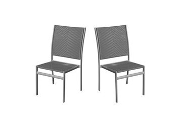 Lot de 2 chaises grises