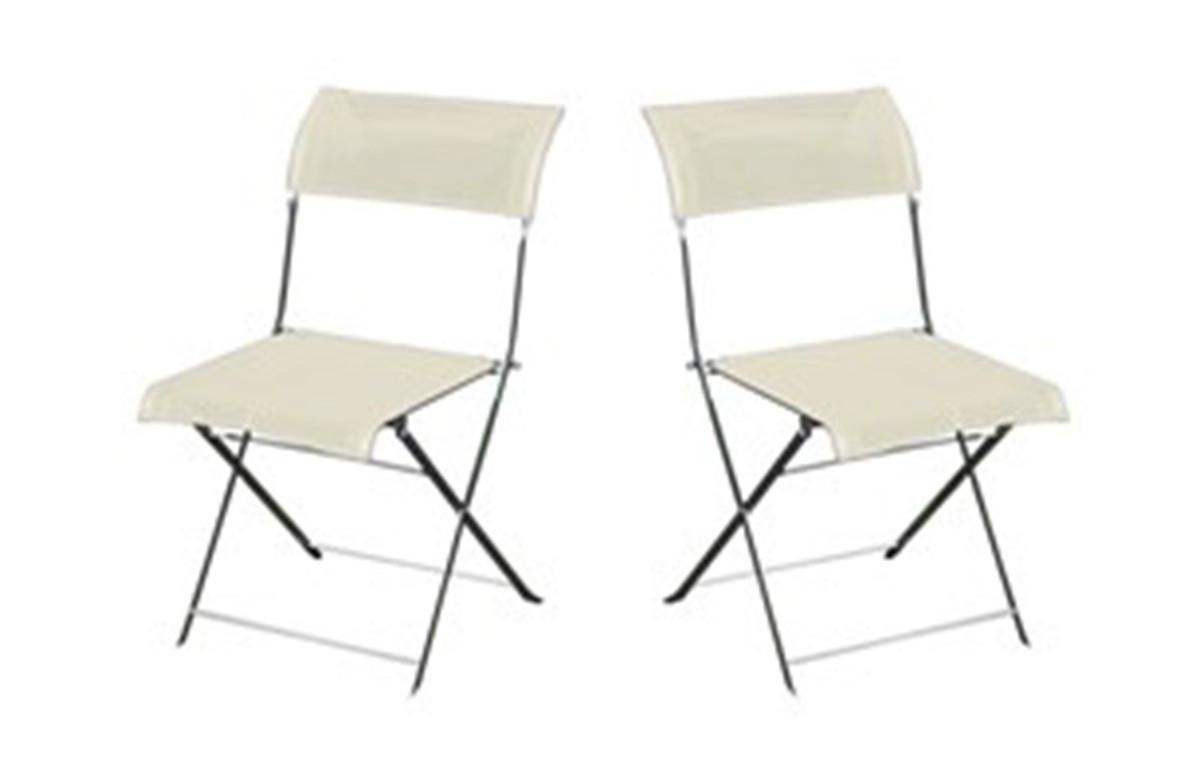 Lot de 2 chaises grises/écrues