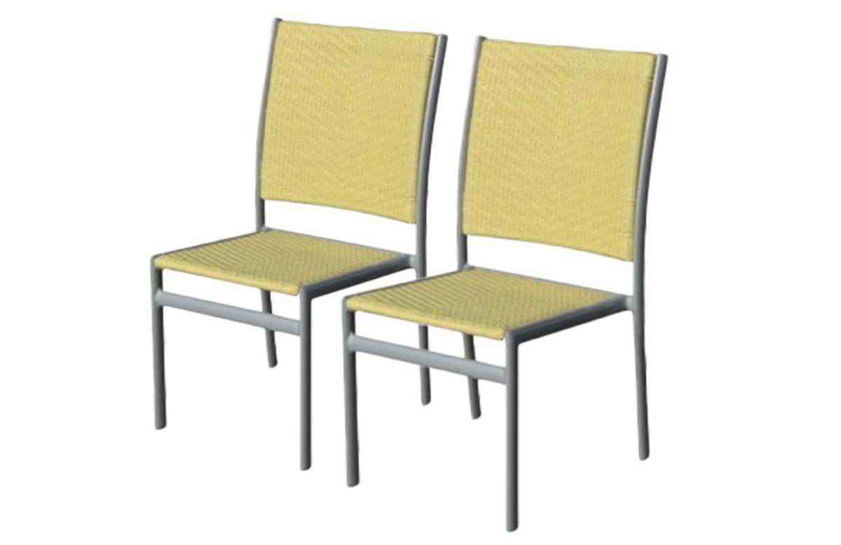 Lot de 2 chaises jaunes