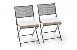 lot de 2 chaises pliantes PERF perforée