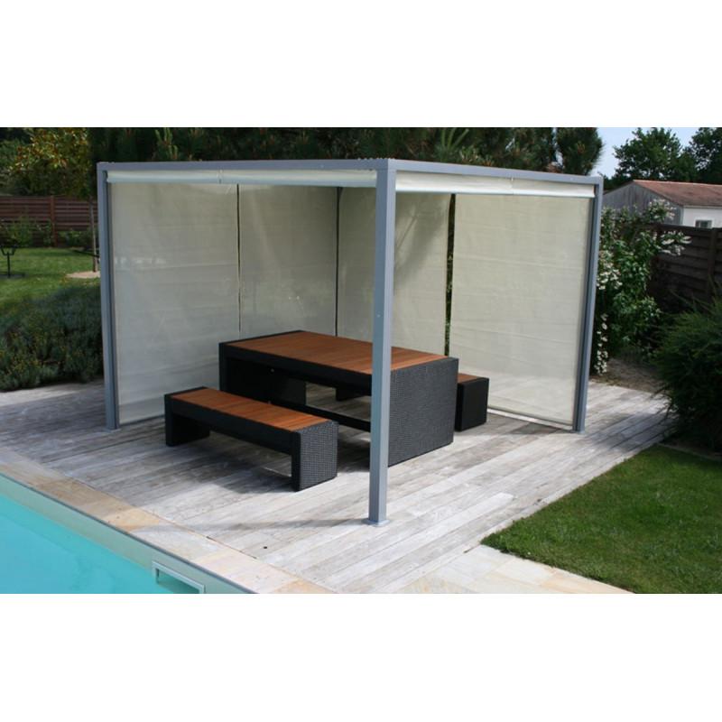 pergola design tonnelle aluminium brise soleil grise le. Black Bedroom Furniture Sets. Home Design Ideas