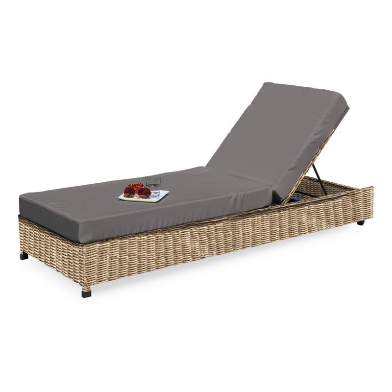 Chaise longue resine tressee chaises longues jardin   Netcap creation d93943c62faa