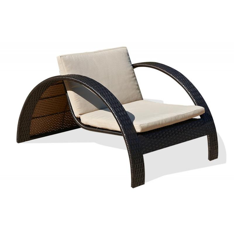 bain de soleil demi cercle en r sine tress e le r ve chez vous. Black Bedroom Furniture Sets. Home Design Ideas