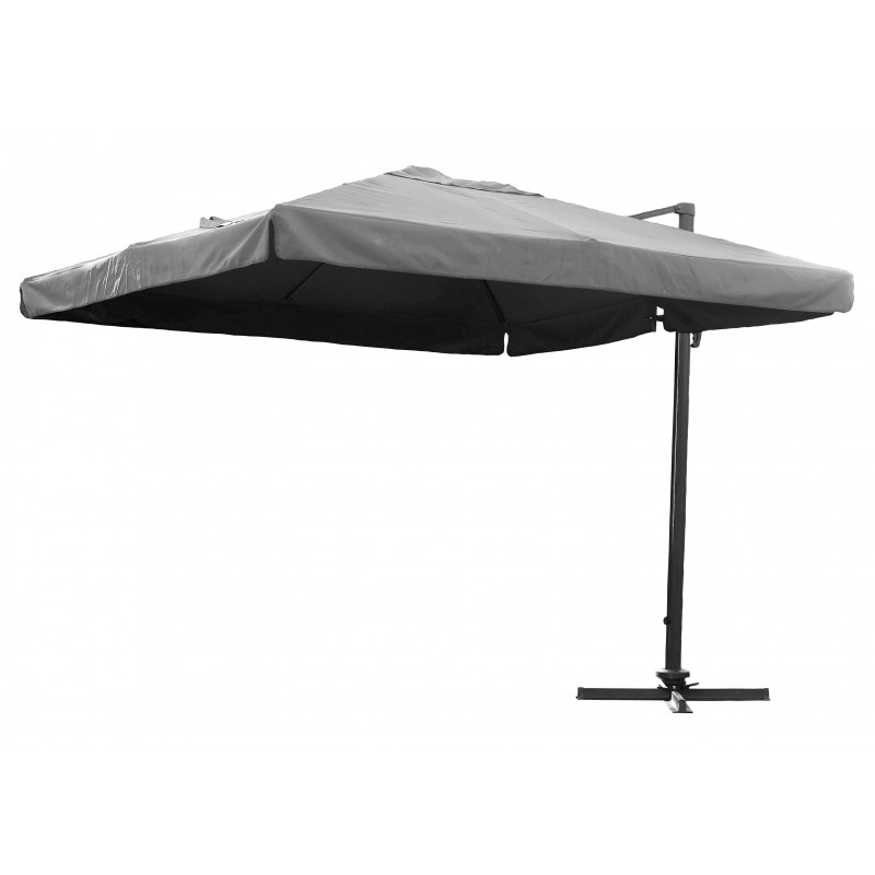 parasol carr avec pied excentr gris le r ve chez vous. Black Bedroom Furniture Sets. Home Design Ideas